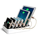 NexGadget 6-Port-USB-Ladestation,Ladedock,abnehmbaren Multiport-USB-Universal-Ladestation...