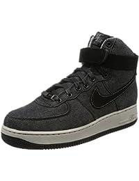 Nike WMNS AIR Force 1 HI SE Womens Fashion-Sneakers 860544-003_8 - Black/Dark Grey-Cobblestone