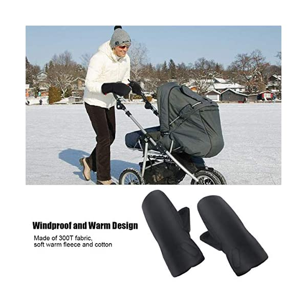 """Stroller Hand Muff, Dreamiracle Winter Warm Waterproof Gloves for Parents, Baby Pram Stroller Accessory, Anti-Freeze, Black Dreamiracle 【Warm Reminder】The Dreamiracle Stroller Hand Muff is SOLD BY """"Dreamiracle EU"""" Originally, Please choose the RIGHT Sellers and boycott the FAKE items from """"other sellers""""! We committeed to provide you the highest quality product and best customer service. If you're unhappy with our product, please feel free to contact us! 【Top Quality and Durable】Made of top-class and soft material, the hand muff is breathable and not easy to be out of shape. Thicker design make it waterproof and windproof, ensuring to keep your hands warm even in the cold winter days while outdoors without being restricted. 【Convenient to Use】Large size(7.5*12.2*1.2 in) makes it wide enough for you to put your hands with your coat into the glove, more convenient than pulling off mittens each time you need free your hands. 2"""