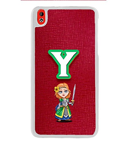 YuBingo HTC Desire 816 :: HTC Desire 816 Dual Sim :: HTC Desire 816G Dual Sim Designer Phone Back Case Cover ( Youthful Letter Y (Girlie Girly Comic Knight Printed on Plastic) )  available at amazon for Rs.449