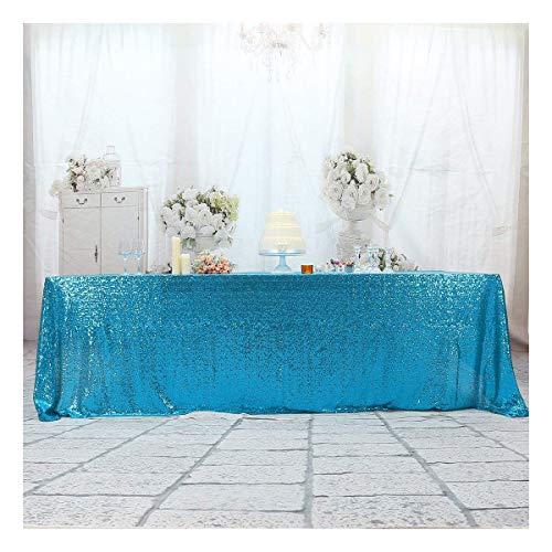 3e Home Rechteck Pailletten Tischdecke für Party Kuchen Dessert Tisch Ausstellung Veranstaltungen, türkis, 50×72''