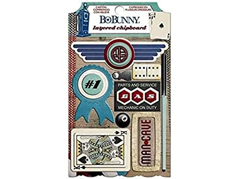 BoBunny Wild Card Layered Chipboard Family Game Scrapbook Embellishments by Bo Bunny