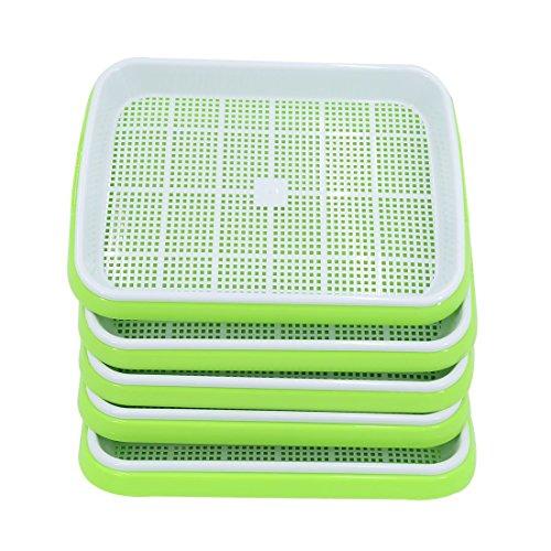 LVPY 5 Stücke Seed Sprouter tray bpa frei baumschule tablett für sämlinge weizen grassierer...