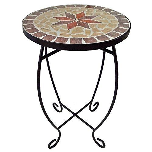 Unbekannt Blumen Hocker Wohn Zimmer Beistell Tisch Mosaik Design mediterran Pflanzen Ständer Harms 504662 -