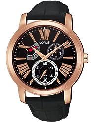 Lorus RP822AX9 - Reloj cronógrafo de caballero de cuarzo con correa de piel negra - sumergible a 100 metros