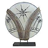 Deko-Leuchte Stimmungsleuchte Stehleuchte Tischleuchte Tischlampe Bali Asia PALME groß 46 cm Color Weiß
