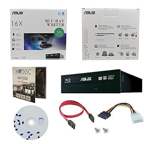 ASUS BW-16D1HT 16X Blu-Ray BDXL M-DISC CD DVD Blu-ray interne Burner dur avec 1pk GRATUIT MDisc DVD + BD Suite Software + Câbles & Vis de montage