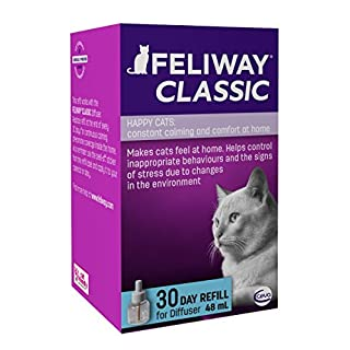 FELIWAY Classic 30 day Refill, comforts cats and helps solve behavioural issues in the home  - 48ml