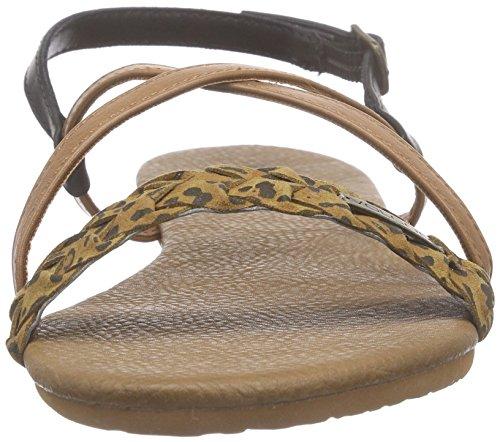 Volcom Journey Sndl, Sandales Bride cheville femme Multicolore - Mehrfarbig (Cheetah CHE)