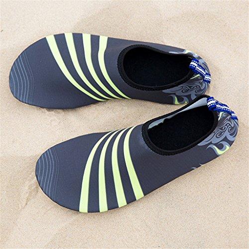 Blion Herren Damen Wasserschuhe Surfschuhe Aquaschuhe Strandschuhe Schwimmschuhe Barfußschuhe Breathable Schnell Trocknend 08 grau