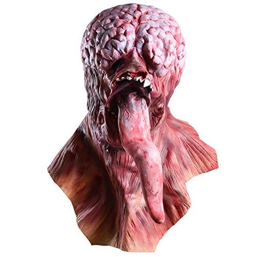 Horror Requisiten Ekelhaft Rot Gesicht Lange Zunge Blutig Zu Fuß Tot Auto Biohazard Kopfbedeckung Maske Geeignet Für Erwachsene Männer Und Frauen Code ()