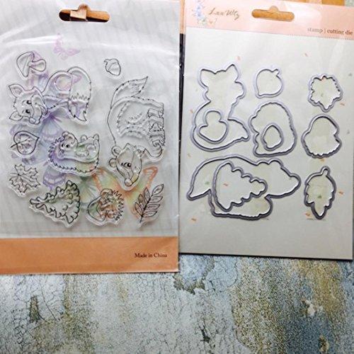 Stanzmaschine Stanzschablone, FNKDOR Scrapbooking Stempel Schablonen Stanzformen Prägeschablonen, für Sizzix Big Shot/Cuttlebug / und andere Prägemaschine (D)