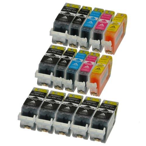 Preisvergleich Produktbild PATRONENSET für Canon 15x PGI525/CLI526 mit Chip - 7xSchwarz 20ml,je 2x bk,c,m,y je 10ml, kompatibel