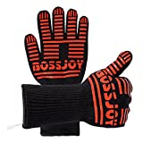BBQ Grilling Gloves 932 °F Extreme Heat Resistant Gloves 14 Long Premium Oven Grill & barbecue Gloves Kitchen Accessories (1 Pair) Forearm Protector For Cooking, Grilling, Baking