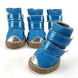 xueyan& Pet Schuhe kleinen Hund Hund wasserdichte Schuhe Teddy VIP tragen Schuhe Winterschuhe, blue, 2