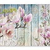 murando - Fototapete Blumen 400x280 cm - Vlies Tapete - Moderne Wanddeko - Design Tapete - Wandtapete - Wand Dekoration - Holz b-A-0239-a-a
