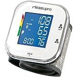 MeasuPro Digital de muñeca monitor de presión arterial con detección del ritmo cardíaco, hipertensión color de la pantalla de alerta, dos modos de usuario, Indicador IHB y de recuperación de memoria