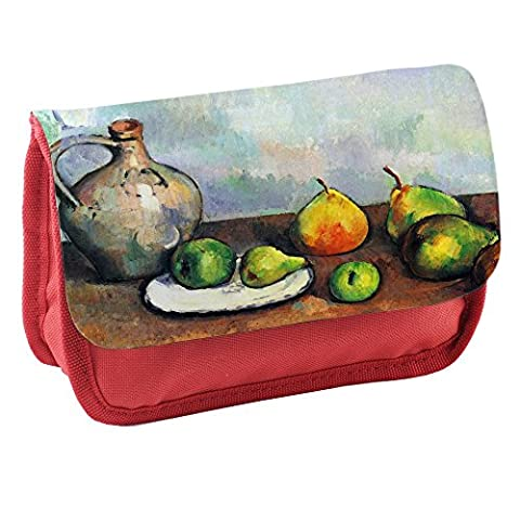Cezanne Still Life Jar And Fruit, Red School Kids Sublimation