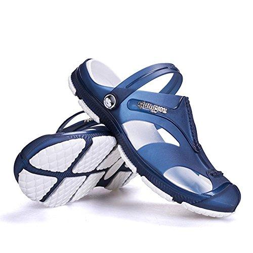 Sandali super morbidi scarpe da ginnastica estate mens traspiranti e non scivolose Blue