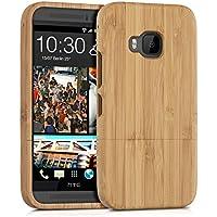 kwmobile custodia in legno naturale per il HTC One M9 in bambù marrone