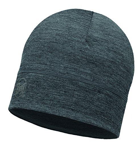 Solid Wind (Buff Lightweight Merino Wool Hat Mütze, Solid Grey, One Size)