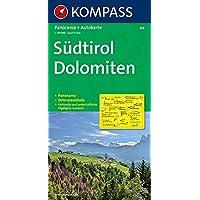 Kompass Karten, Südtirol, Dolomiten: Panorama + Autokarte und Ortsverzeichnis. 1:150000 (KOMPASS-Panoramakarten, Band…