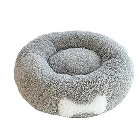 Automne et Hiver Doux et Confortable Volume Rond Peluche Chenil Petit Chien Teddy Vip Hot Pad Animal: 52 * 20Cm / Poudre , Gray