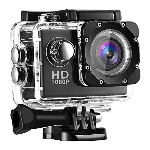 140° Weitwinkel Aktionkameras Wasserdicht 30M Unterwasserkamera 1080p Ultra Full HD Sport Action Gratis Zubehör inklusive