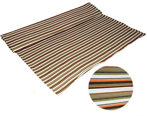 1 m * 1,60 m - Jersey Stoff - Stretch - Baumwolle - oliv grün orange - Streifen / gestreift Stoffe Nähen - Ringeljersey - Jerseystoff - Streifenstoff / Meterware - Shirt / Mütze (Streifen Wolle, Feine)