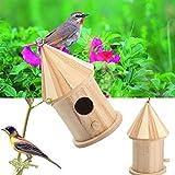 Kicode Esterno di legno Uccelli da giardino Nido di scatola di nidificazione del legno Fornitura domestica Accessori