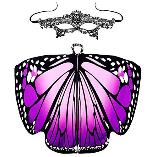 VRTUR Weihnachten Schmetterling Damen Flügel Schal Schals Poncho Kostüm Zubehörteil Party Schmetterlingkostüm