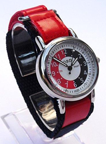 Boys-Girls-Kids-RedBlue-Time-TutorTeacher-Watch-QBD