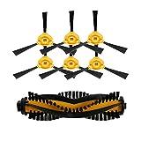 louu 1Stück The Main Brush Rolling + 6Seite Bürste Reinigungsbürste Ersatz für eufy robovac 11Staubsauger Ersatzteile