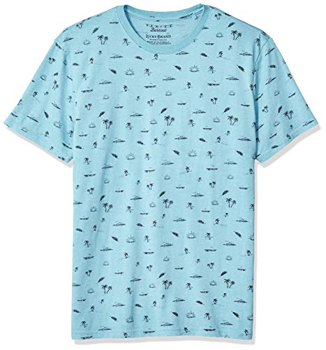 Lucky Brand Herren Summer ICON Burnout Tee Hemd, Delphinium Blue, Groß -