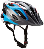 Alpina Kinder FB Jr. 2.0 Flash Fahrradhelm, Anthracite/Blue / Red/White, 50-55 cm