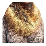 QinMM bufanda Pañuelos de piel sintética para mujeres cuello de piel de invierno cálido para la chaqueta