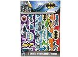 Joy Toy 301038 - Batman Sticker wiederverwendbar 5 Bögen auf backercard, 21 x 29.5 cm