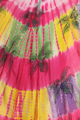 Sakkas Palmier Tie Dye Caftan Robe / Cover Up Rose