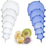 Stretch Deckel (12 Pack) - Einem Deckel, passend für alle - wiederverwendbar Silikon Schüssel Abdeckungen Food Saver