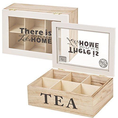 caja de madera para té café Soporte Para Cápsulas Contenedor con ta