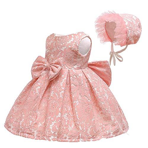 ädchen Kleid Spitze Prinzessin Taufe Cocktailparty Blume Bowknot ()