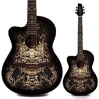 Guitare acoustique «Alien» Lindo pour gaucher, design 933C, avec housse
