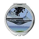 Yanteng Spiegel, Reise-Spiegel, Wasserpflanzen Strand Tageslicht, Taschenspiegel, Tragbare Spiegel