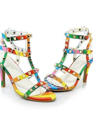 WSS 2016 chaussures pour femmes pu talons printemps / été / automne / bottes de mode talons mariage / partie&soirée / robe talon aiguille multi color-us6 / eu36 / uk4 / cn36