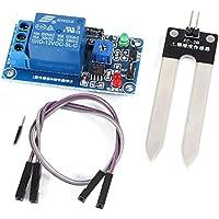 sourcingmap® DC12V 1 Canale Rosso e verde LED luce umidità Sensore + modulo relè