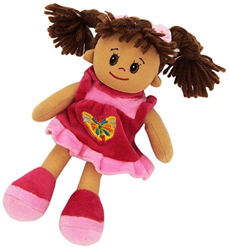 Heunec 473478 - bambola lucy con capelli castani, 20 cm