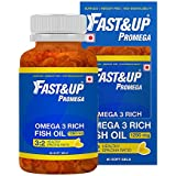 Fast&Up Promega 3 Rich Fish Oil Supplements - 60 Softgels