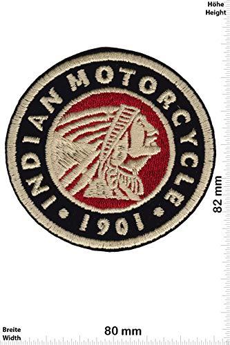 Patch - Indian Motorcycle - 1901 - Round - HQ - Motorrad - Motorrad - Indian - Aufnäher - zum aufbügeln - Iron On