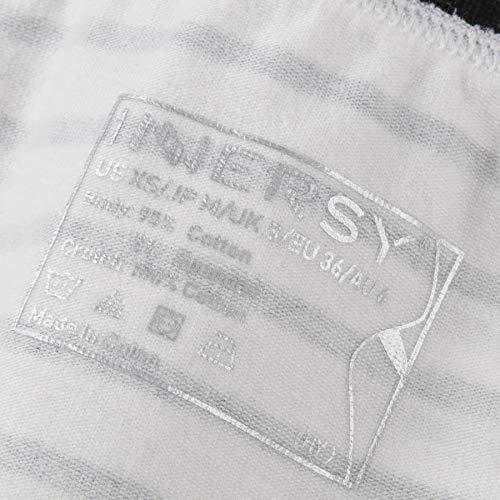 INNERSY Damen Unterhosen Baumwolle Taillenslips Mädchen Streifenmuster 6er Pack (46, Mehrfarbig Streifen) - 7