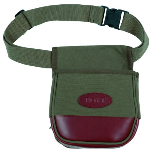 Boyt Harness Canvas and Leather Shell Pouch (OD Green) -